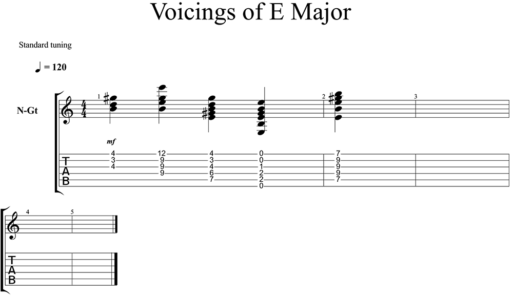 Chordal Voicings On Guitar Lessonface