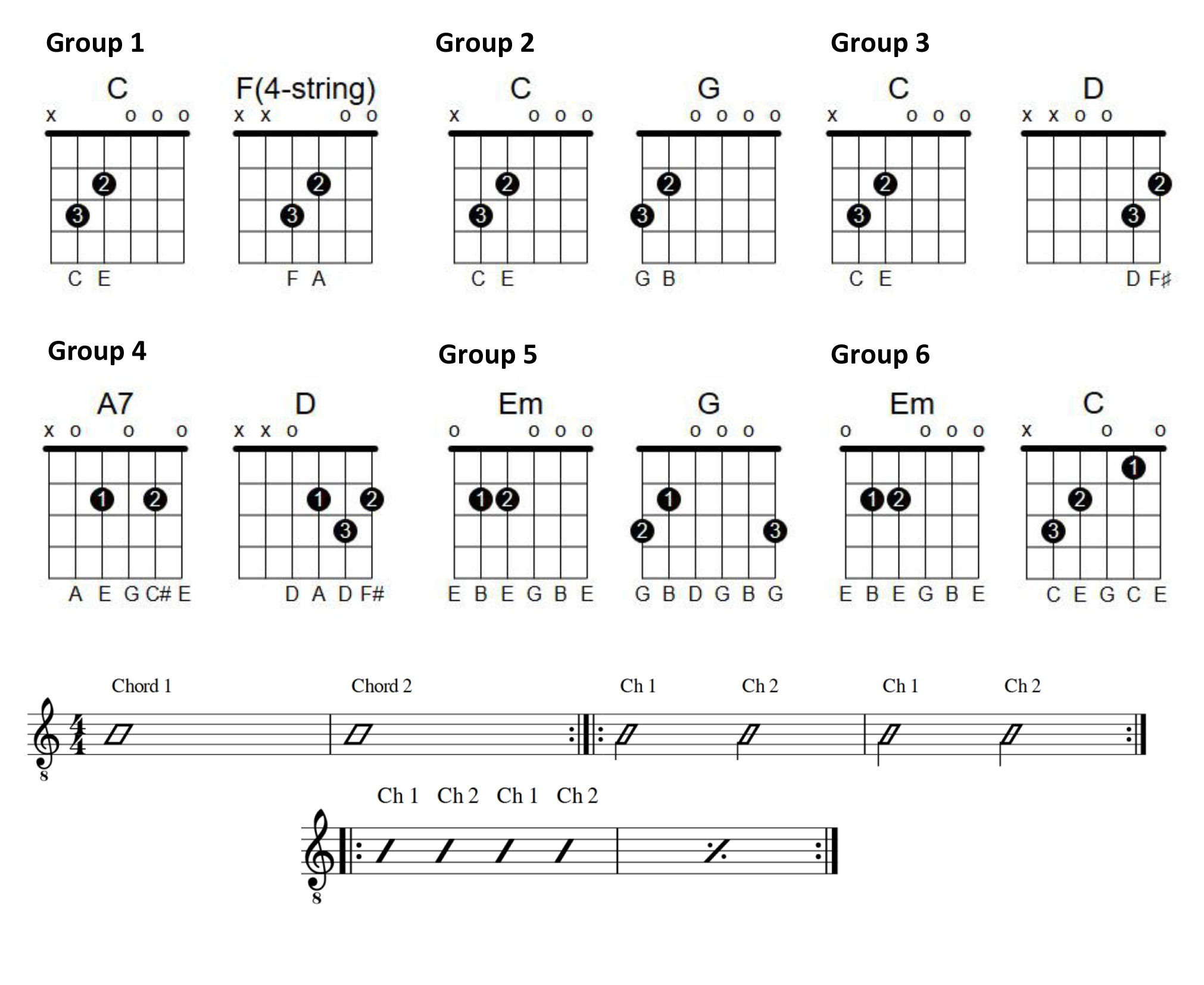 Chord Change Exercises | Lessonface