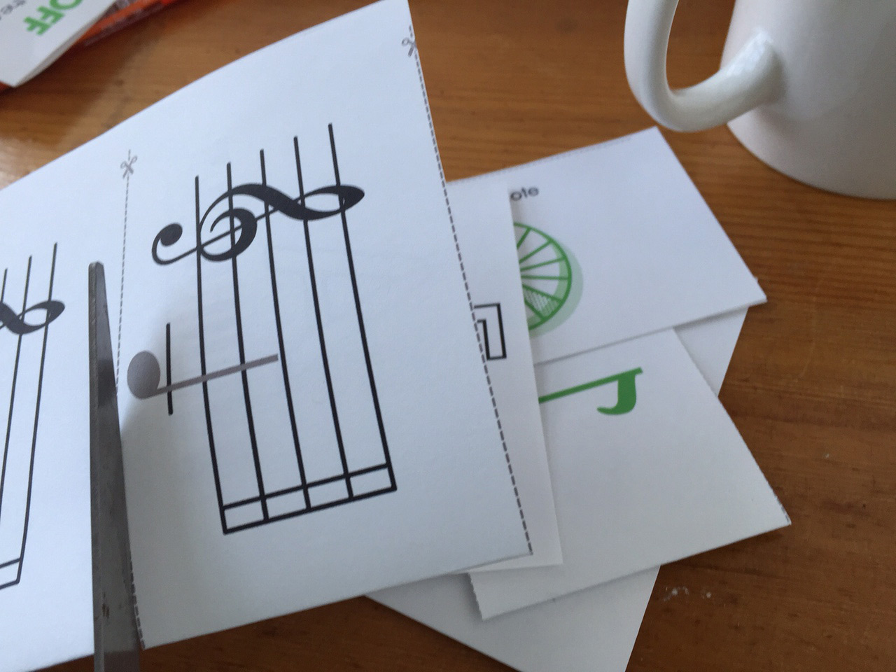 flash cards for learning to read music free to download and