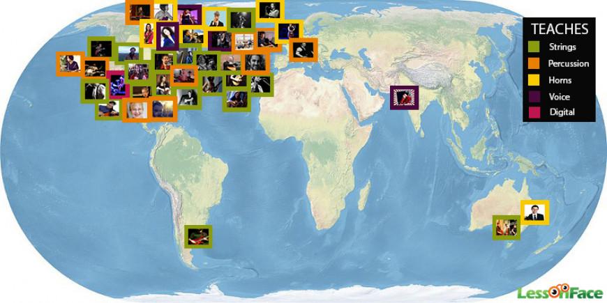 Lessonface.com Teacher Map
