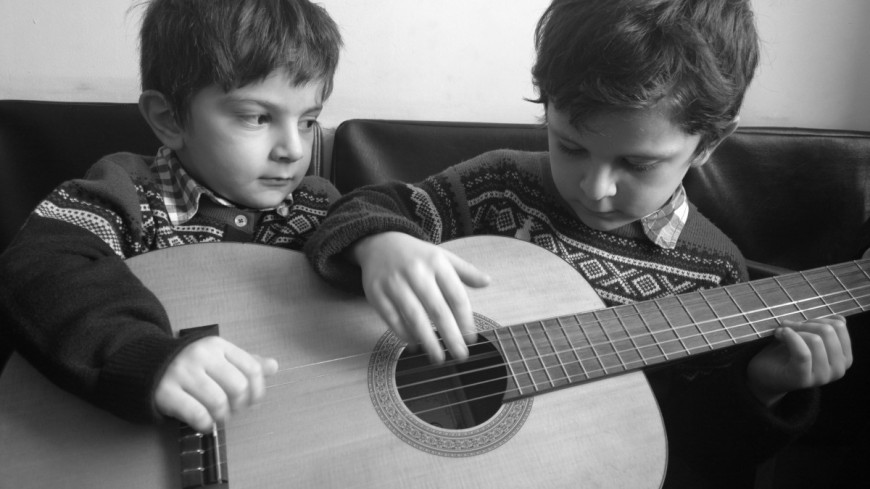 Kids with a guitar