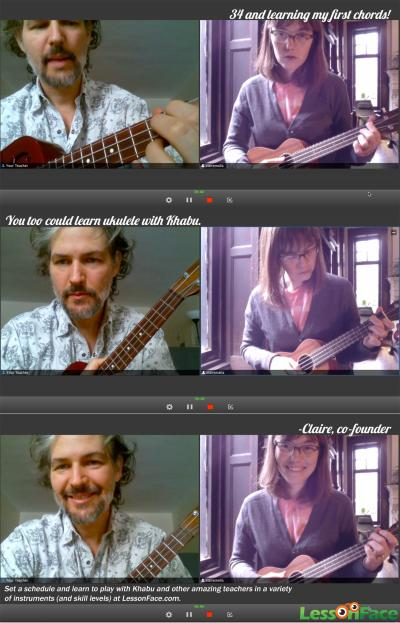 A Ukulele Lesson at Lessonface.com