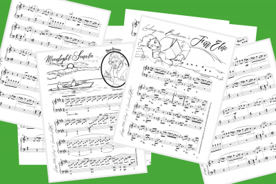 Fur Elise Sheet Music for online piano lessons & classes