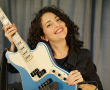 Yonit with her bass guitar