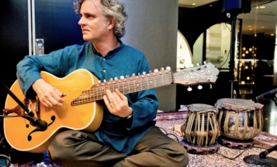 Dave Cipriani with Indian Slide Guitar teaches live online music lessons at Lessonface