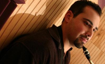 Ray Melograne recording in the studio.