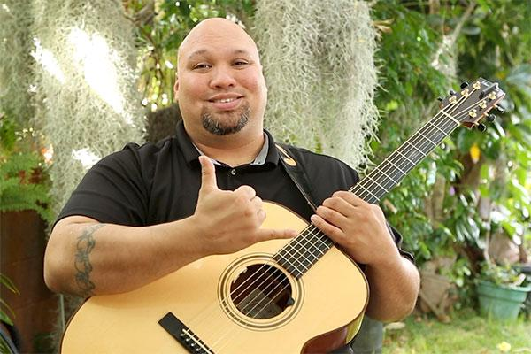 Slack key guitar with Aaron Crowell