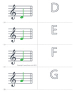 It's just an image of Decisive Music Note Flashcards Printable