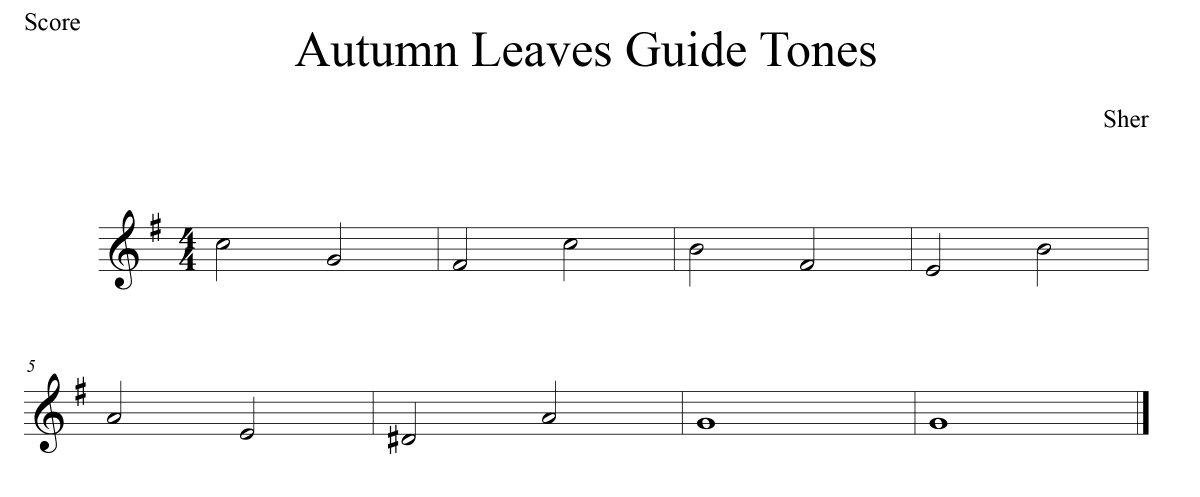 autumn leaves guide tones